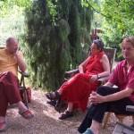 David and Caroline Brazier at Seminar on establishing  a European Buddhist University, East West Sanctuary