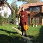 Leader of Vipassana meditation retreat crossing path
